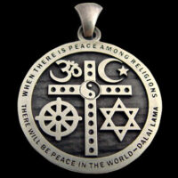 Interfaith Unity Pendant, Order this Sterling Silver Pendant Today – Only $79.99 ($3 S/H on US orders)