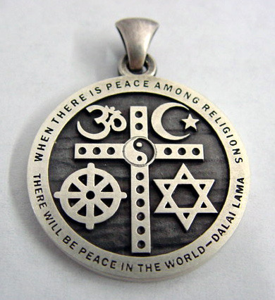Religious Symbols Interfaith Cross Pendant $27.99 Order Today ($3 S/H on U.S. orders)