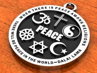 Religious Images – Interfaith Peace Pendant – Stainless Steel $29.99 ($3 for Shipping/Handling on US orders)