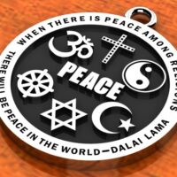 Religious Images – Interfaith Peace Pendant – Peace $27.99 ($3 for Shipping/Handling on US orders)