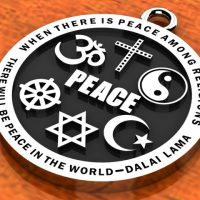 Religious Images - Interfaith Peace Pendant